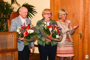 Het lintje zit er op, samen met Burgemeester Pijnenburg op de foto