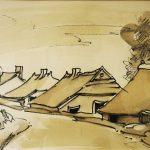 Huisjes in de dijk te Werven – Jan Langevoord lr